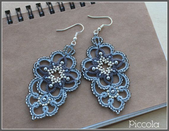 Lacy earring Pollyanna от PiccolaLacyPassion на Etsy