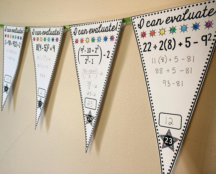 14 best show your work images on pinterest classroom decor math a free order of operations pennant activity that doubles as classroom decor 30 pennants fandeluxe Images