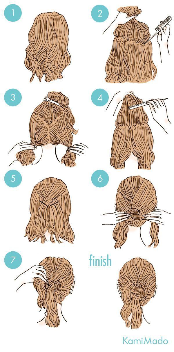 cabelo preso baixo com nó