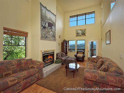 "Lavish inside and spacious: ""Pinnacle Peak"" 6-BR Gatlinburg chalet rental"