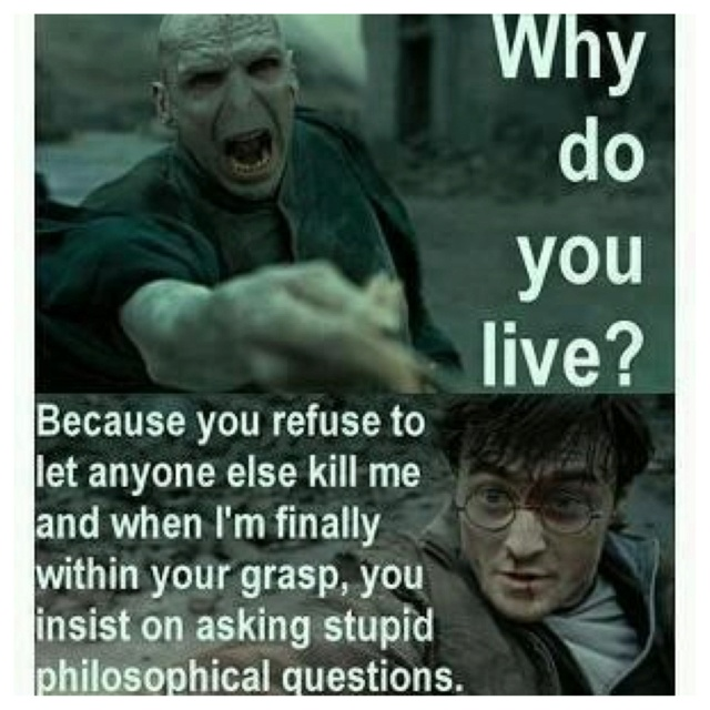 Silly Voldemort...