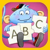ABC-pussel - öva stavning, skriv egna ord och se bilder av det du skriver