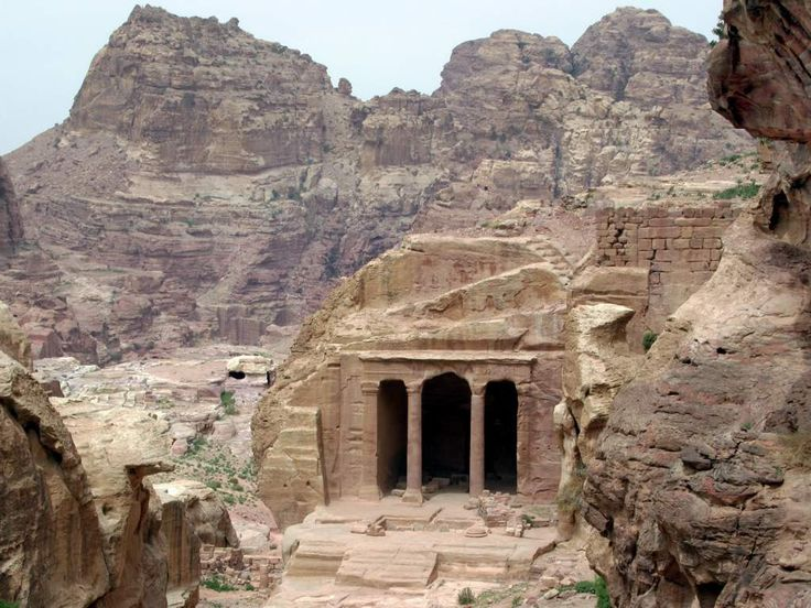 The Garden Hall on the Wadi al-Farasa processional route at Petra, Jordan, faced a garden in antiquity.