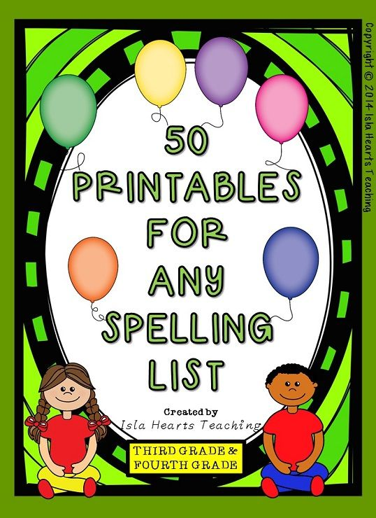Need some no prep spelling printables that are varied, educational and lots of fun? These 50 worksheets are just what you need! The printables fit with ANY spelling list -- and can be used individually or in a booklet!