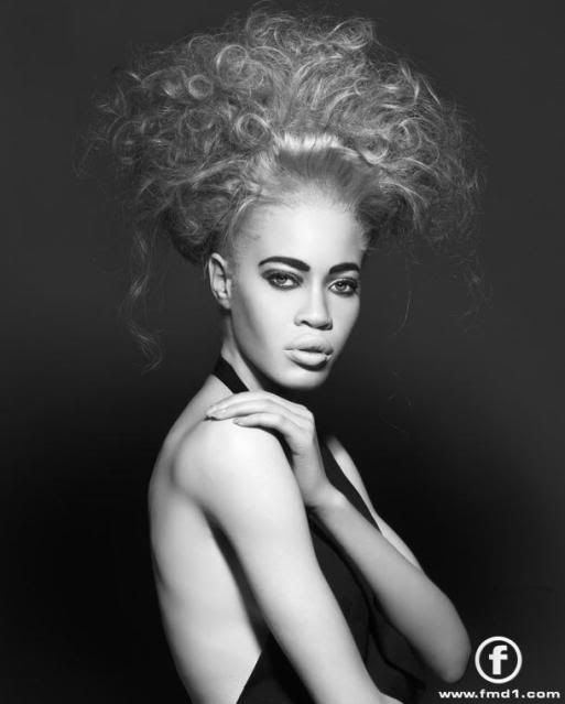 African American Supermodel with Albinism Diandra Forrest