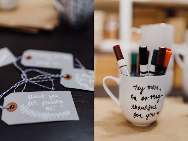 Winter Bridal Shower Ideas + DIY Personalized Mugs