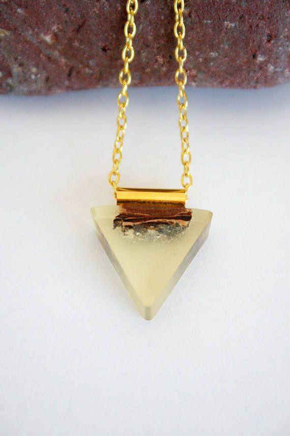 Boho Bohemian Style Triangle Geometric Handmade Natural Plum
