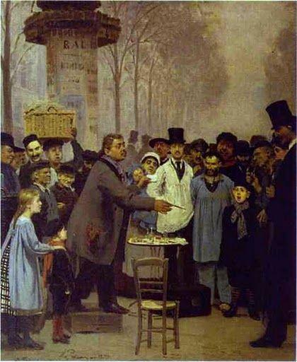 Ενας πωλητής εφημερίδων στο Παρίσι. (1873)