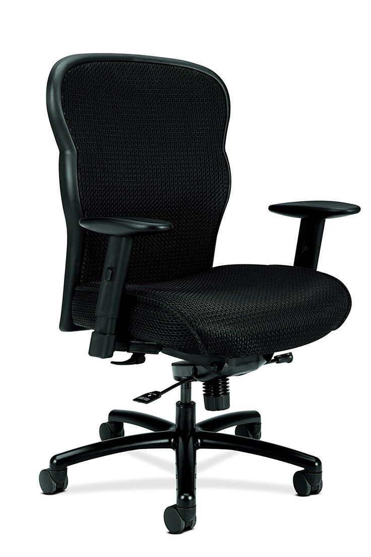 Black and white office chair - Leather Executive High Back Office Chair With Lumbar Support Black