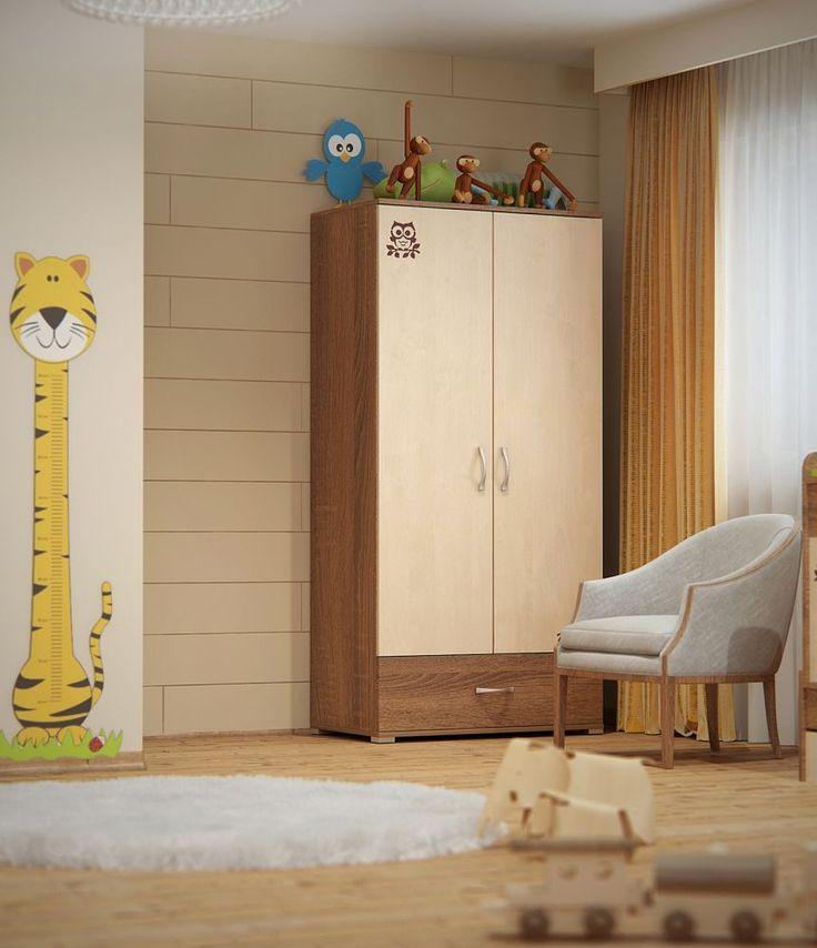 Todi Noé 2 ajtós 1 fiókos nagy szekrény, Todi Noé 2 ajtós 1 fiókos nagy szekrény, Zsebi Babaáruház