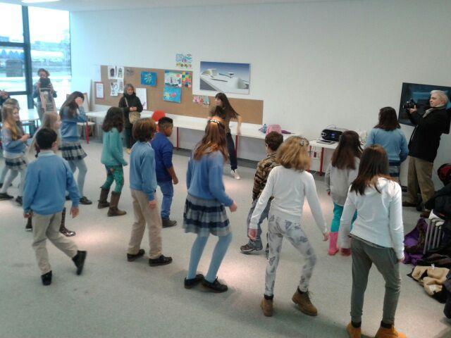Hip-Hop con los chicos y chicas del Colegio San Fernando de Avilés