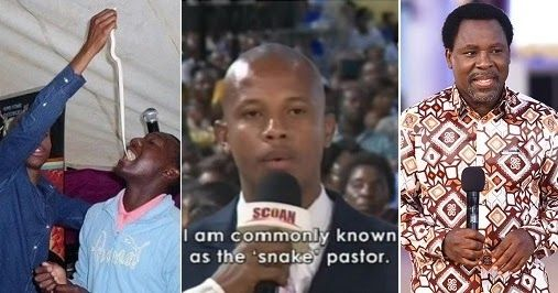 After seeking deliverance from prophet T.B Joshua Controversial Penuel Mnguni of End Times Disciples Ministries a.k.athe snake pastor has made a U-turn since his appearance on Emmanuel TV on Sunday.  Mnguni visited TB Joshuas Synagogue Church of all Nations in Nigeria on Sunday and explained why he had fed his congregants live snakes.  Mnguni who described himself as an overseer of his church said he had misinterpreted the Bible and did what he thought was scriptural at the time.  It was…