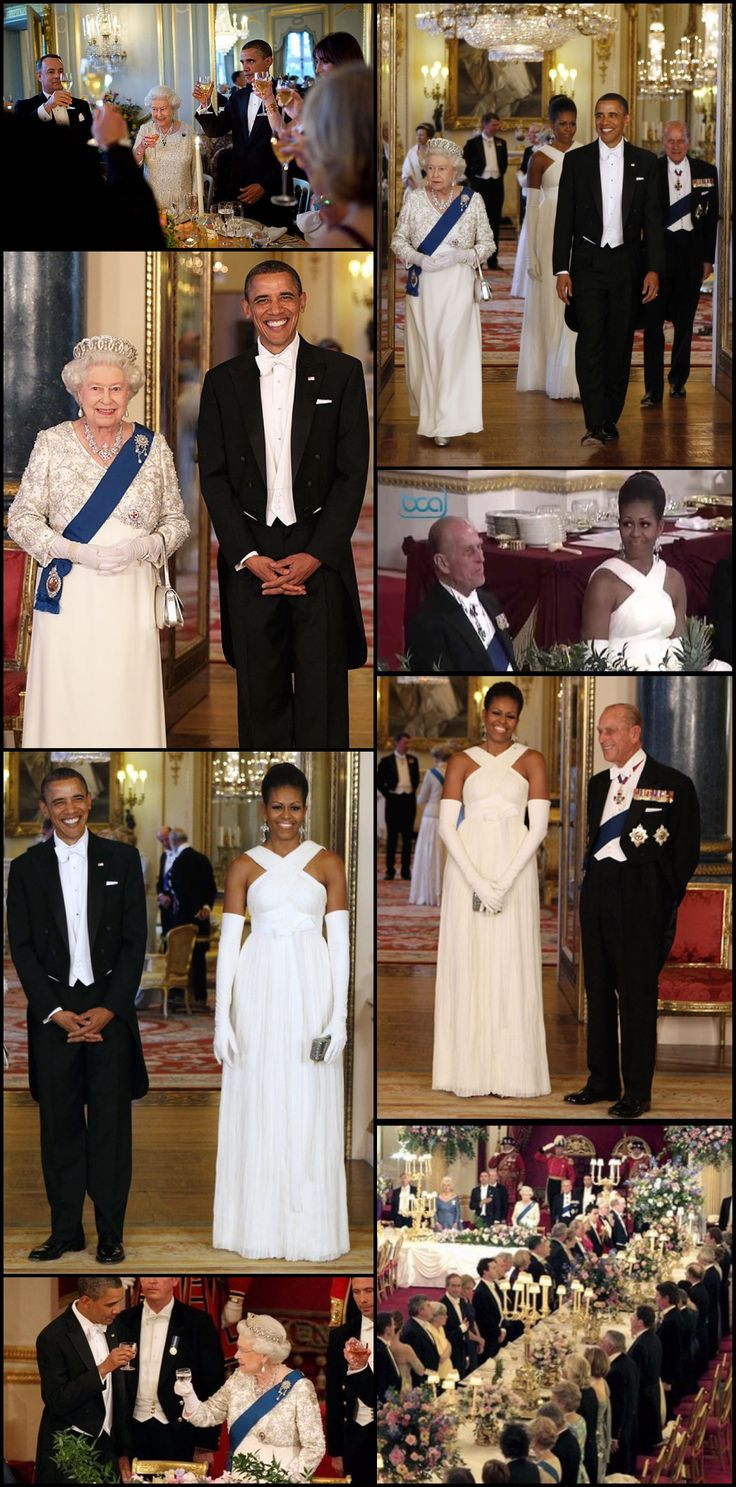 #Second #Visit May 2011 #US #44thPresident #BarackObama and #QueenElizabethII during a State Banquet in Buckingham Palace on May 24, 2011 in London, England. The 44th President of the United States, Barack Obama, and his wife #FirstLady #MichelleObama was in the UK for a two day State Visit at the invitation of HM Queen Elizabeth II and #PrincePhilip Duke of Edinburgh During the trip they attended a state banquet at Buckingham Palace
