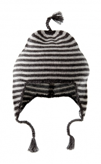 Knitted Beanie with Tassels
