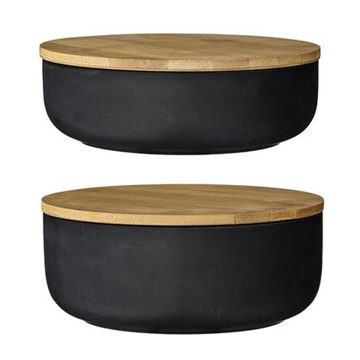 Bloomingville  Serving Bowls, Black