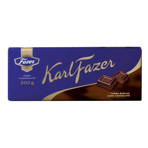 Fazer Dark Chocolate Bar 200g - Fazer $6.50