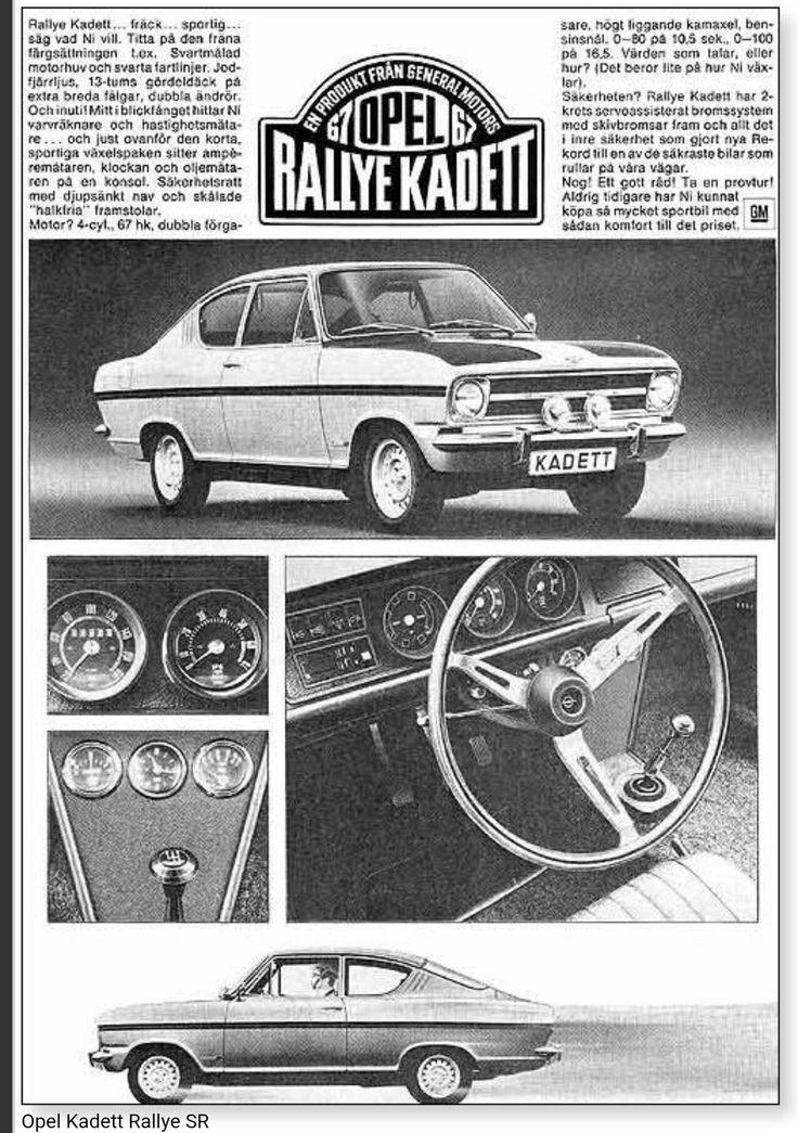 1967 Opel Kadett Rallye SR - Deutsch
