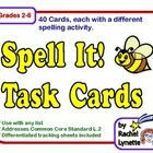 40 Task Cards that can be used with any list. Great for differentiation! $