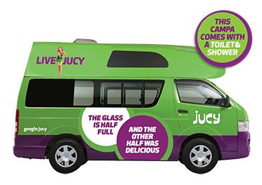 JUCY Chaser - Toyota Hiace Campervan Hire New Zealand