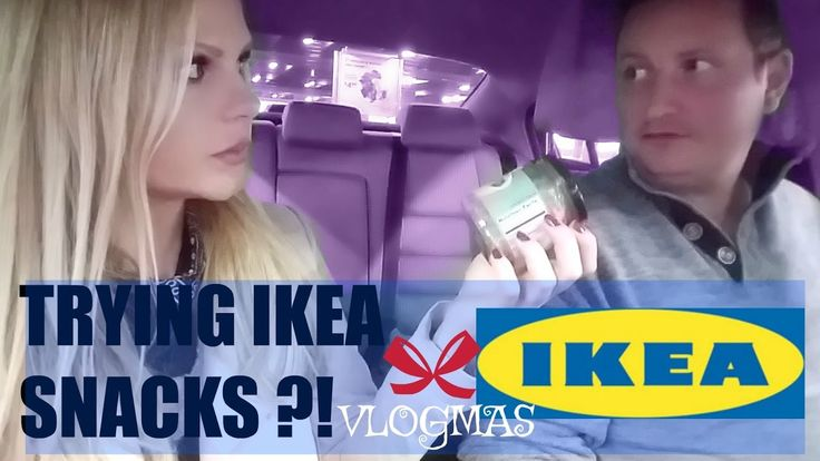 VLOGMAS TRYING OUT IKEA SNACKS ?!  Swedish candy video !