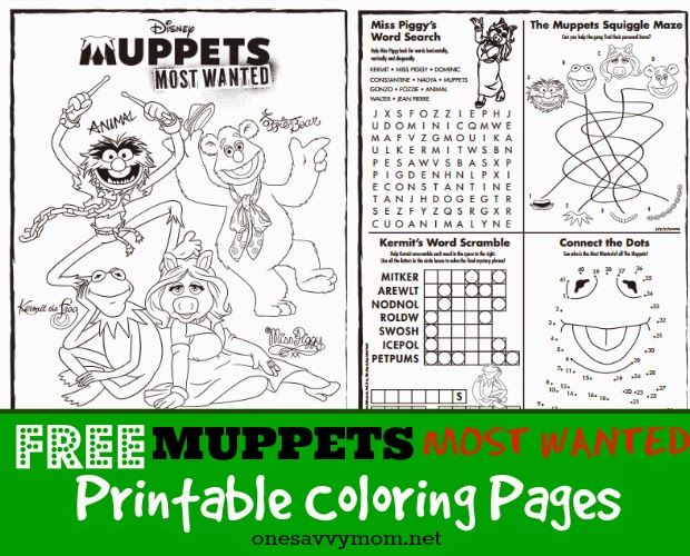 free muppets most wanted printable coloring pages featuring kermit the frog miss piggy fozzie