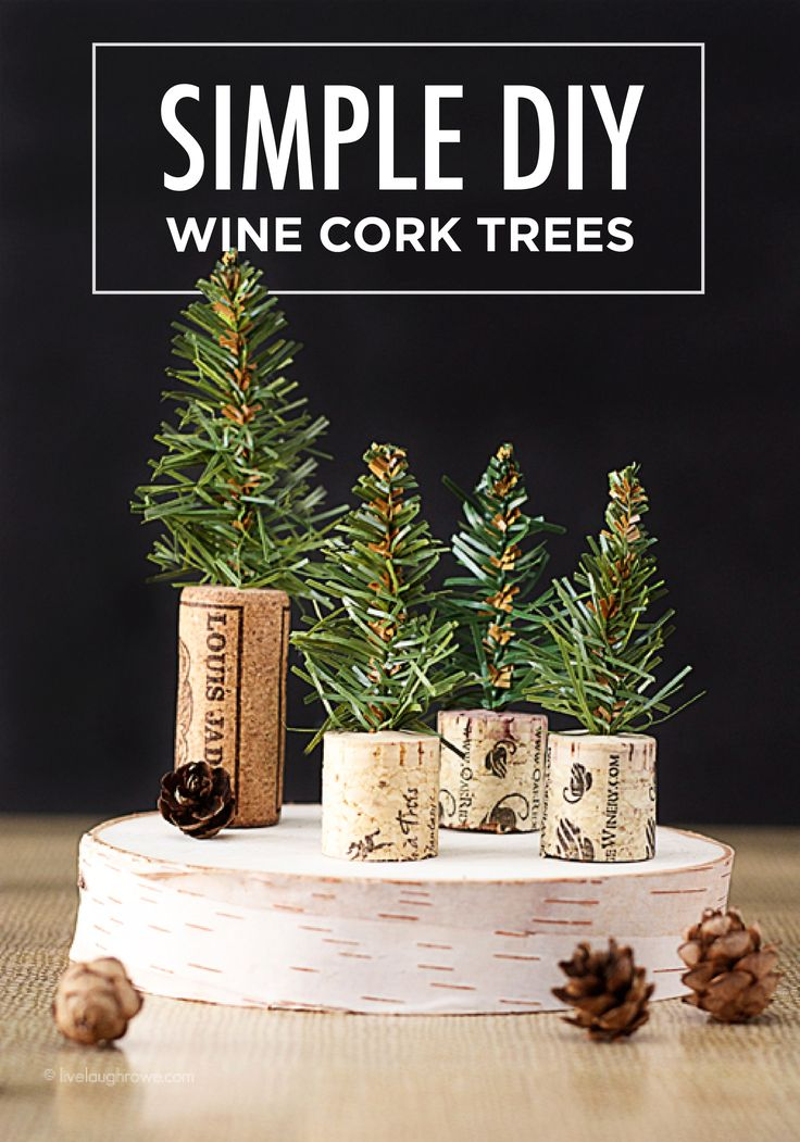 Small and simple, this holiday DIY craft idea for wine cork trees is perfect for adding to your mantle or Christmas table. Wherever you choose to showcase these decor accents, guests will love the rustic touch.