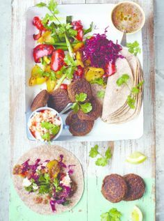 Jamie Oliver Falafel Wraps  •  Free tutorial with pictures on how to cook a wrap in under 40 minutes