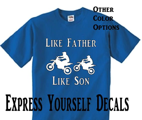 Infant Toddler   Like Father Like Son  4wheeler Quad  T Shirt
