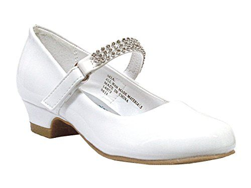 Girls Low Heel Girls Dress Shoe with Rhinestone Strap (12, White Patent) Swea Pea & Lilli http://www.amazon.com/dp/B00N59LVZQ/ref=cm_sw_r_pi_dp_ZArWub0ZF2KPS