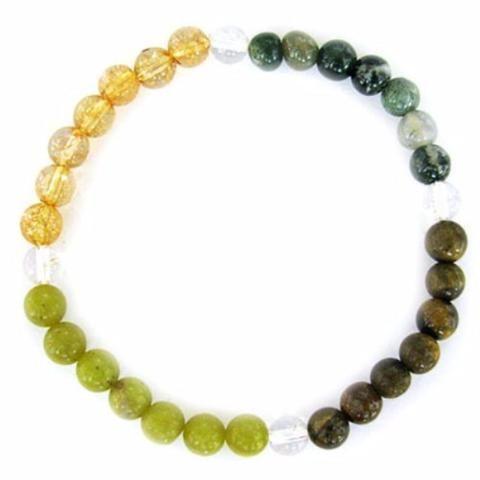 Gemstone ENERGY BRACELET Crystal Healing - ABBUNDANCE - Crystal Rock Emporium