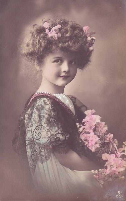 Vintage Rose Girl Photograph