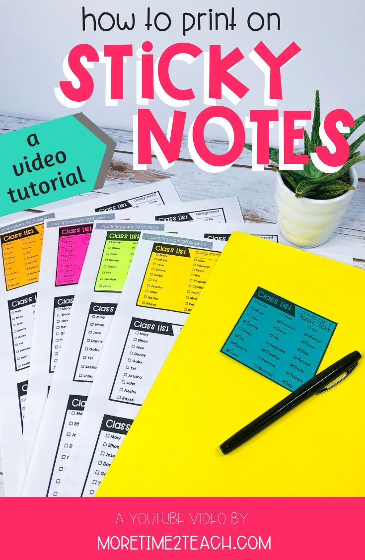 Have You Ever Wondered How To Print On Post It Notes It S Actually Quite Easy Teaching Upper Elementary Classroom Hacks Teachers Teachers Classroom Management