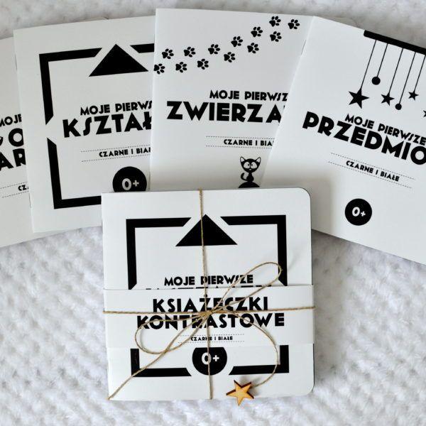Książeczki kontrastowe 4szt ,,Czarne i białe,, 0+ – Babyssima