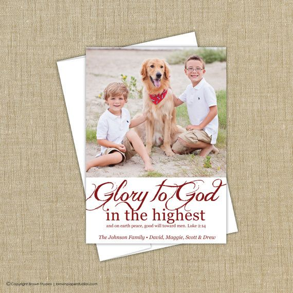 Religious Christmas Cards. Christian Photo Christmas Cards . religious christmas photo card. Glory to God in the highest