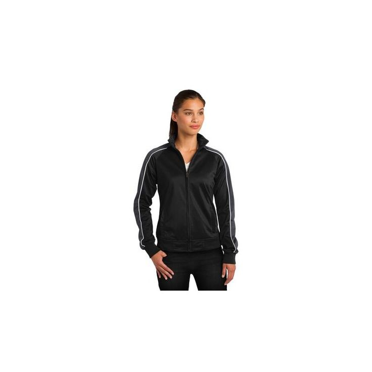 Sport-Tek Ladies Piped Tricot Track Jacket. LST92  If you would like to place a order for this shirt please email us atsales@adaprint.comor give us a call at 281-353-4646. We also have a location on Aldine Westfield in Spring. 23333 Aldine Westfield Spring TX 77373. https://www.houstonprint.com/athletic-warm-ups/1163-sport-tek-ladies-piped-tricot-track-jacket-lst92.html