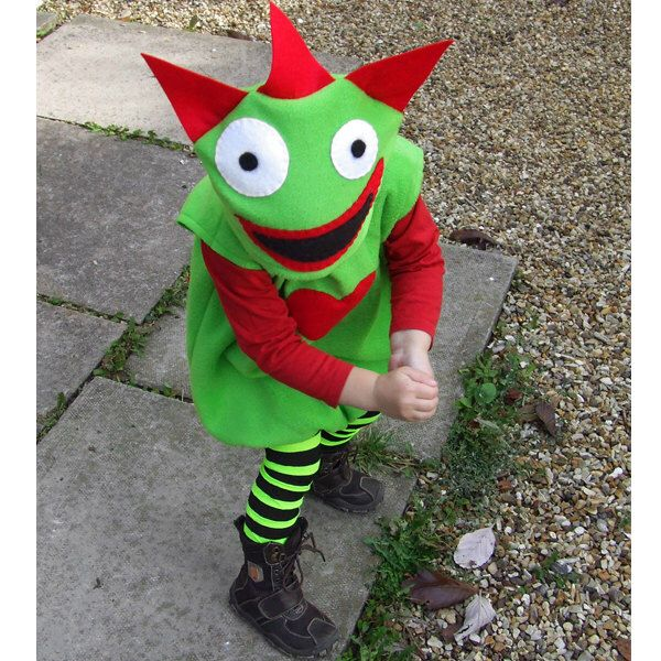 child's monster costume green red  for baby and toddler by GuuGuuGa on Etsy https://www.etsy.com/listing/110689153/childs-monster-costume-green-red-for