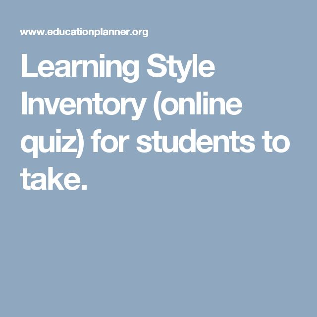 Best 25+ Learning style inventory ideas on Pinterest   Learning ...