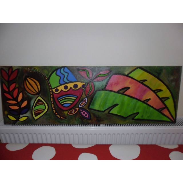 This painting's called banana leaves rainbow