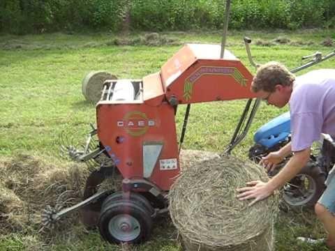 BCS Model 853 walk-behind tractor with CAEB mini-haybaler