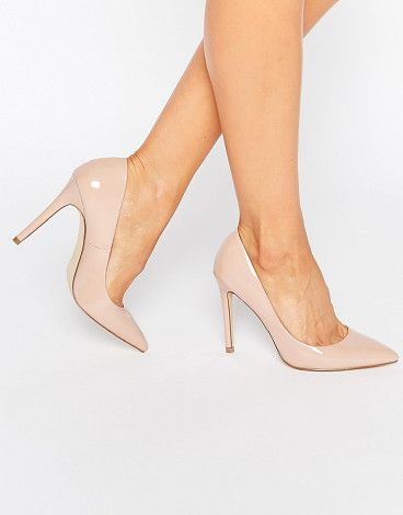 Chloe pumps by Faith. Heels by Faith, Faux-leather upper, Slip-on style, Pointed toe, High heel, Wipe with a soft cloth, 100% Textile Upper...