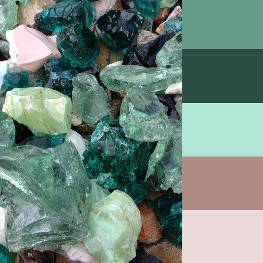 Glass Rocks - Seafoam & Teal Color Palette