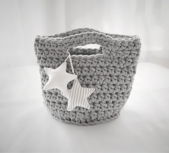 Cotton baskets, 100% handmade. Designed and made by Pracownia Lollipop. Order here:https://www.facebook.com/PALollipop