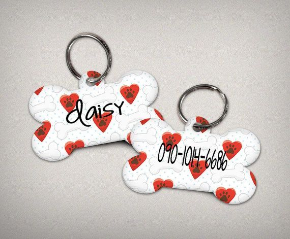 Dog Tags dog name tags custom dog pet tags on by thecraftgiraffe