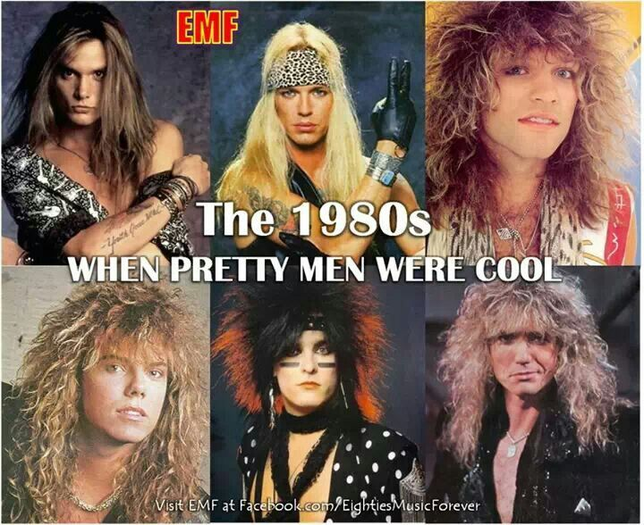 Big hair and big hair bands...the 80s were so awesome!!