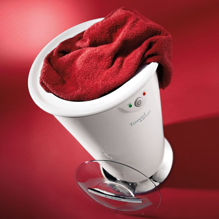 Treat yourself to a touch of luxury anytime with a warm towel, robe or blanket.