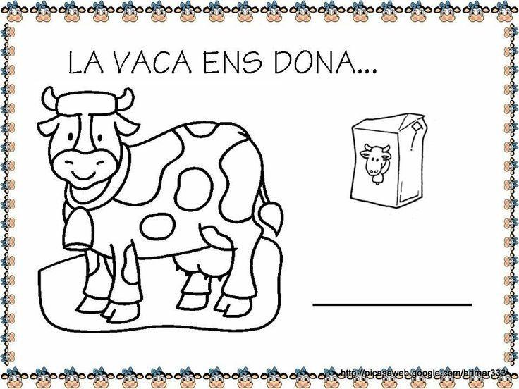 Ficha sobre la vaca. Trabajar los productos lácteos en la escuela