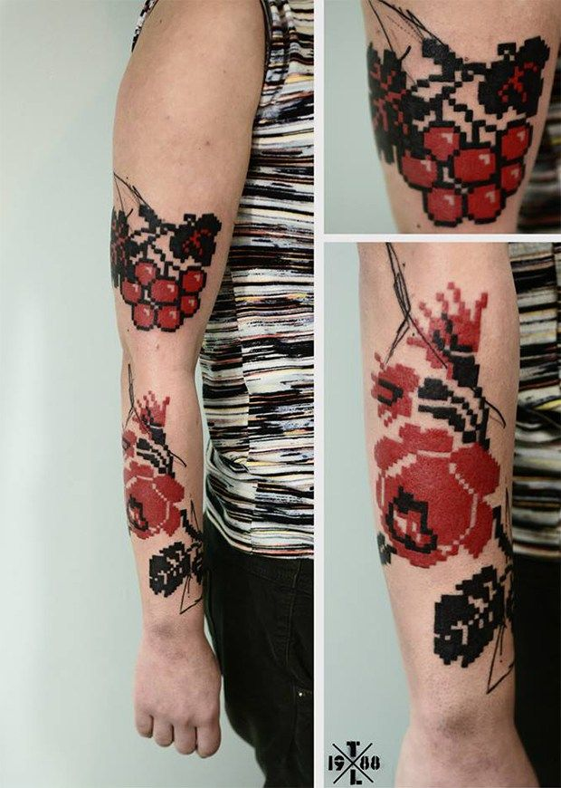 Best Tattoo Inspiration Images On Pinterest Tattoo - Minimal geometric tattoos brought to life with bursts of colour