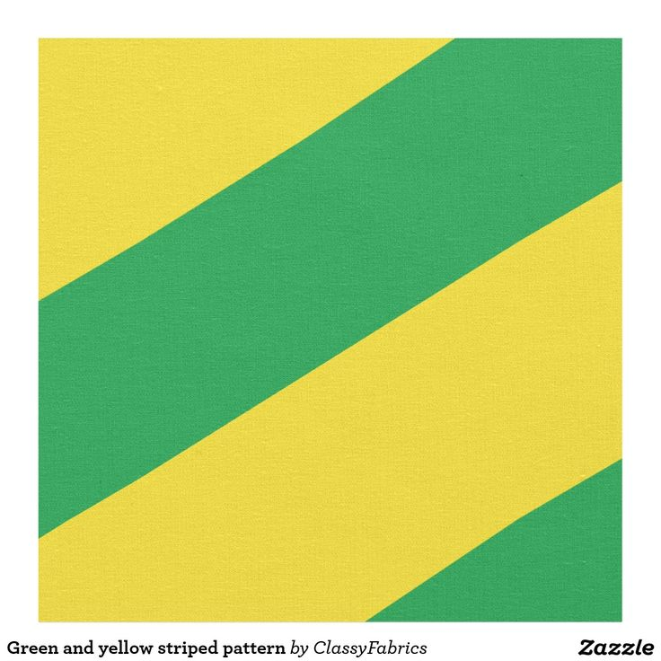 Green and yellow striped pattern fabric
