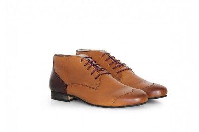 JAMES - CUIR CAMEL #derbies #boots #shoes #men #leather #desertboots