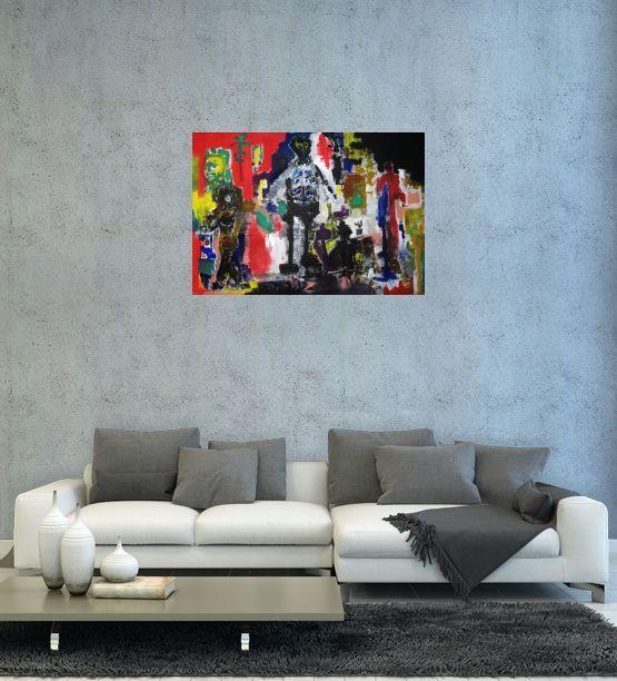 Gallerymak.com - 6.000 TL / 2.050 USD  Psiko by Dinçer Dökümcü - Tuval üzerine Yağlı Boya / #OilonCanvas - 70x100  #sanat #dışavurum #sanatçı #ressam #tablo #resim #heykel #sanatsal #müze #sergi #galeri #soyut #eser